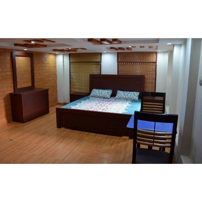 King Size Double Bed Brown Matte Finish Home Design Lahore