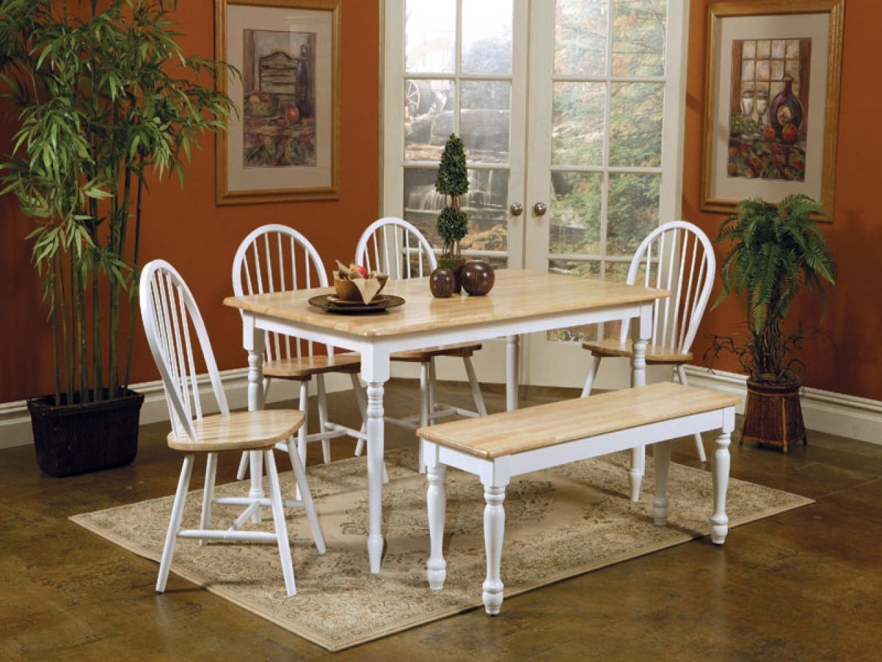 Kitchen Table And Chairs Set Small Butcher Block New Quot Round Oak Dining With Additional  Mb