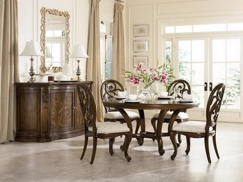 Kitchen Table Decorations  Round Dining Room Sets Traditional Dining Tables Round Dining Room