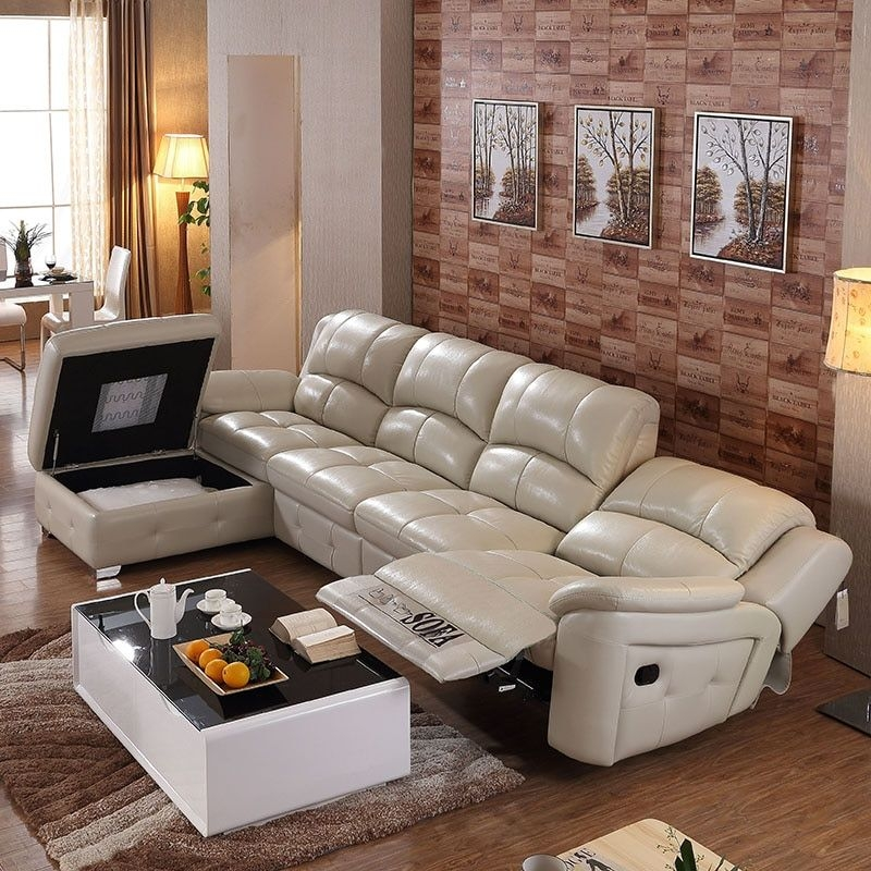 L Shape Modern Extend Bonded Leather Sofa Set For Big Living Room Ce 105Cin Living Room Sofas