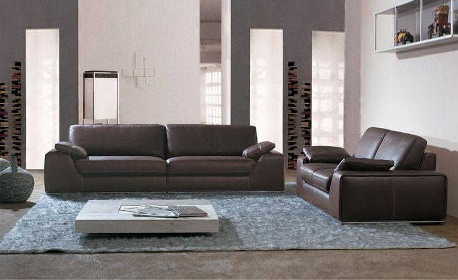 Large Size American Design Classic Genuine Leather Sectional Sofa Set 123 Conbination Of