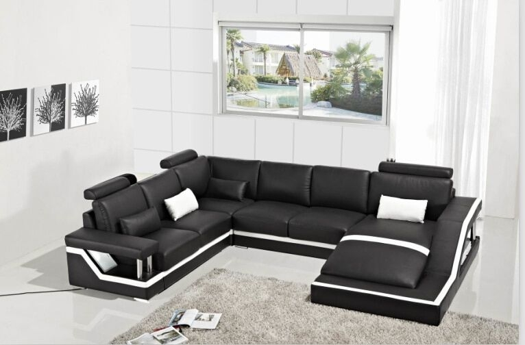 Leather Corner Sofas With Genuine Leather Sectional Sofa Modern Sofa Set Designs In Living Room