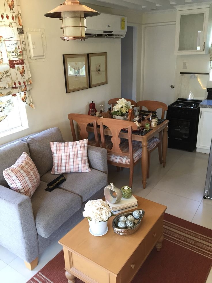 Living Room And Dinning Room For House Model With 46Sqm Floor Area From Camella Home…  Small