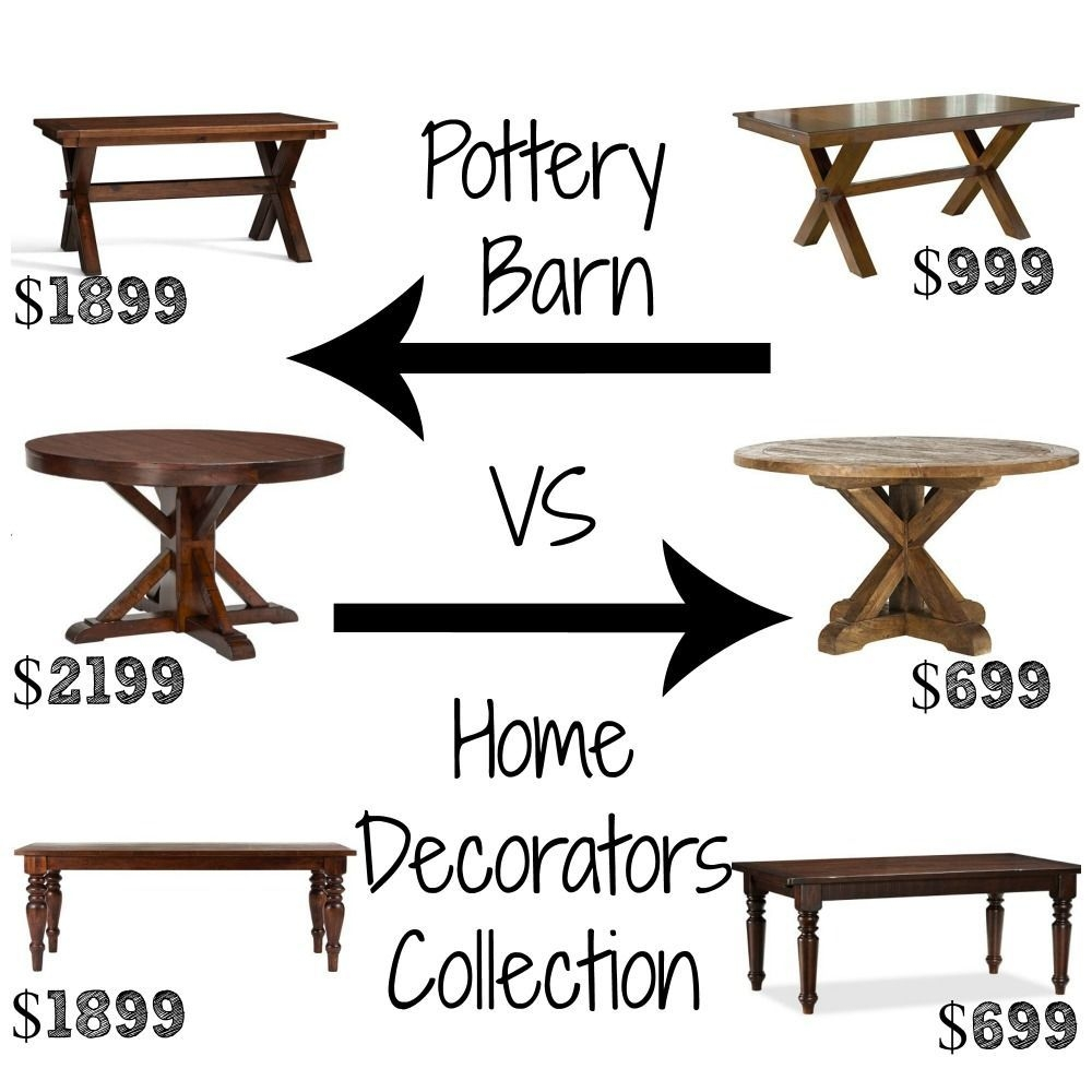 Look Alikes Showdown Dining Tables – Pottery Barn Vs Home Decorators Collection  Pottery Barn