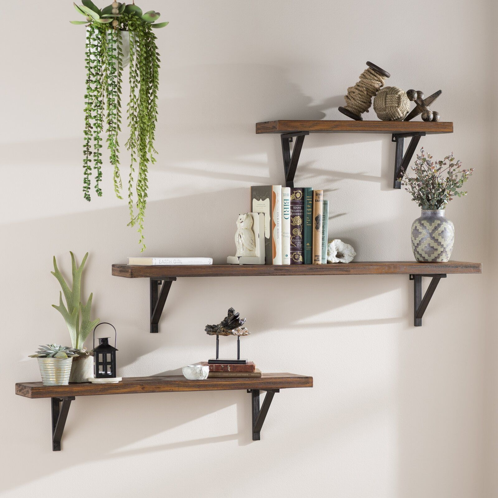 Loon Peak 3 Piece Wall Shelf Set  Reviews  Wayfair  Shelf Decor Bedroom Shelves In Bedroom