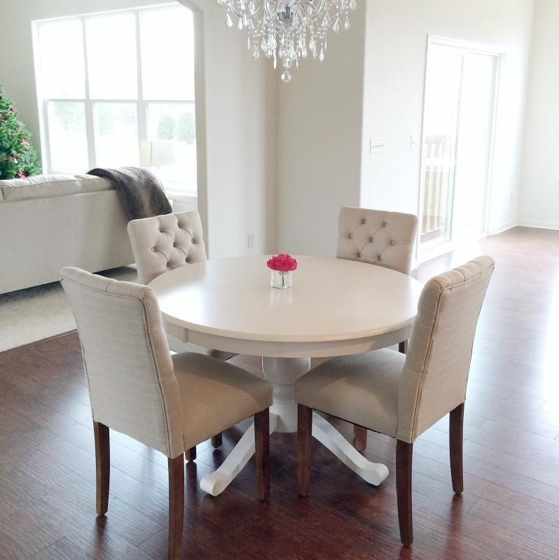 Love It Minus The White Table Threshold™ Brookline Tufted Dining Chair  Small Dining Room