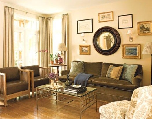 Love The Mirror Over The Couch  Simple Living Room Wall Decor Living Room New Living Room