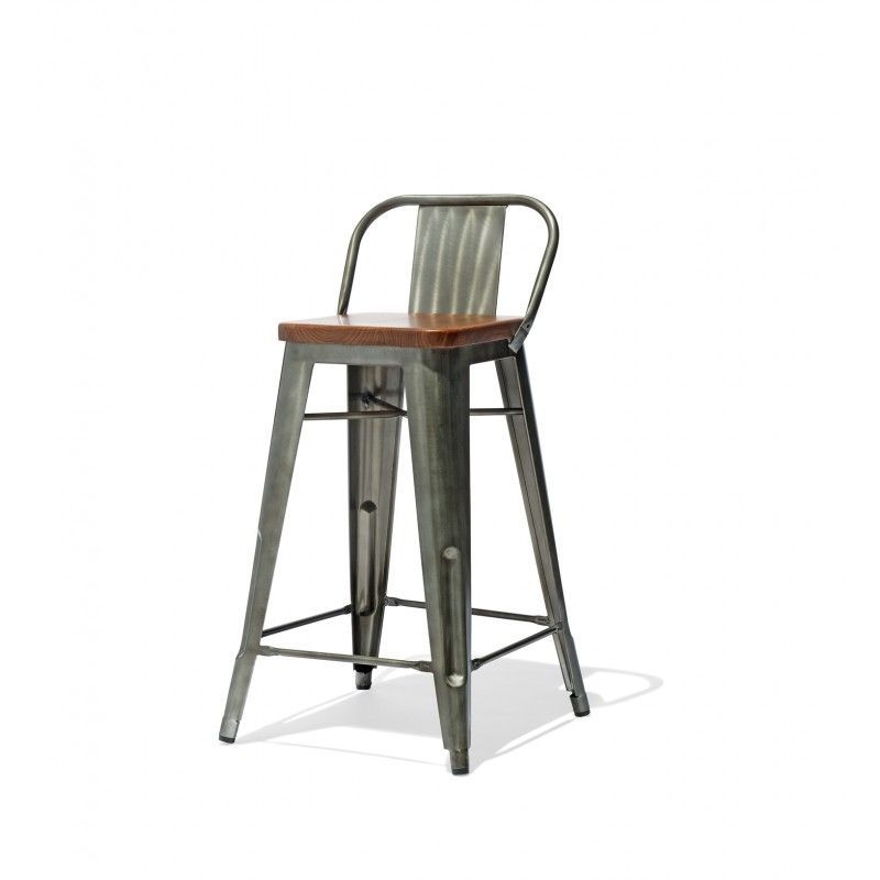 Low Back Counter Stool With A Wood Seat 155  Counter Stools Stools For Kitchen Island