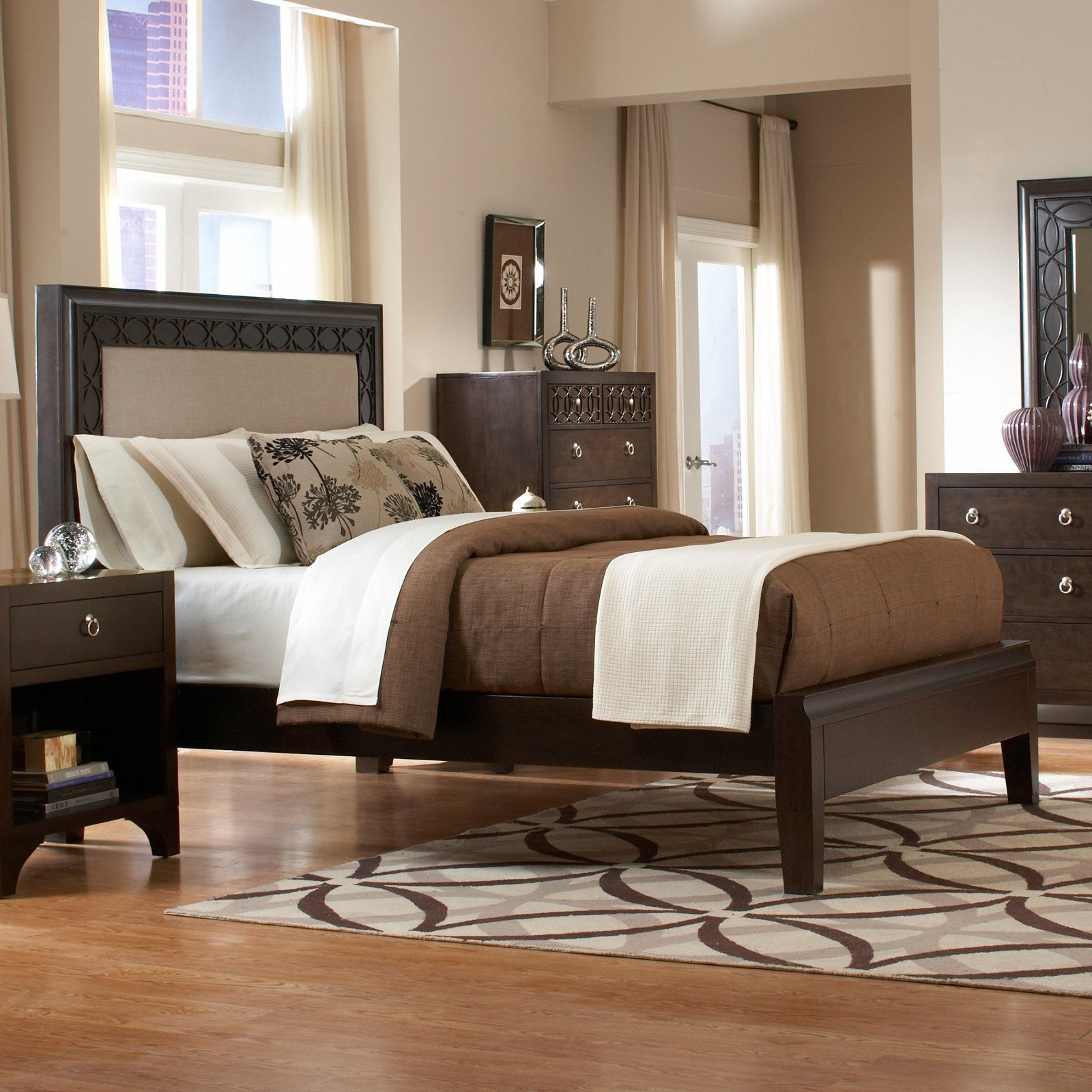 Martin Home Furnishings Ellipse Panel Bed  From Hayneedle  Redecorate Bedroom Bedroom