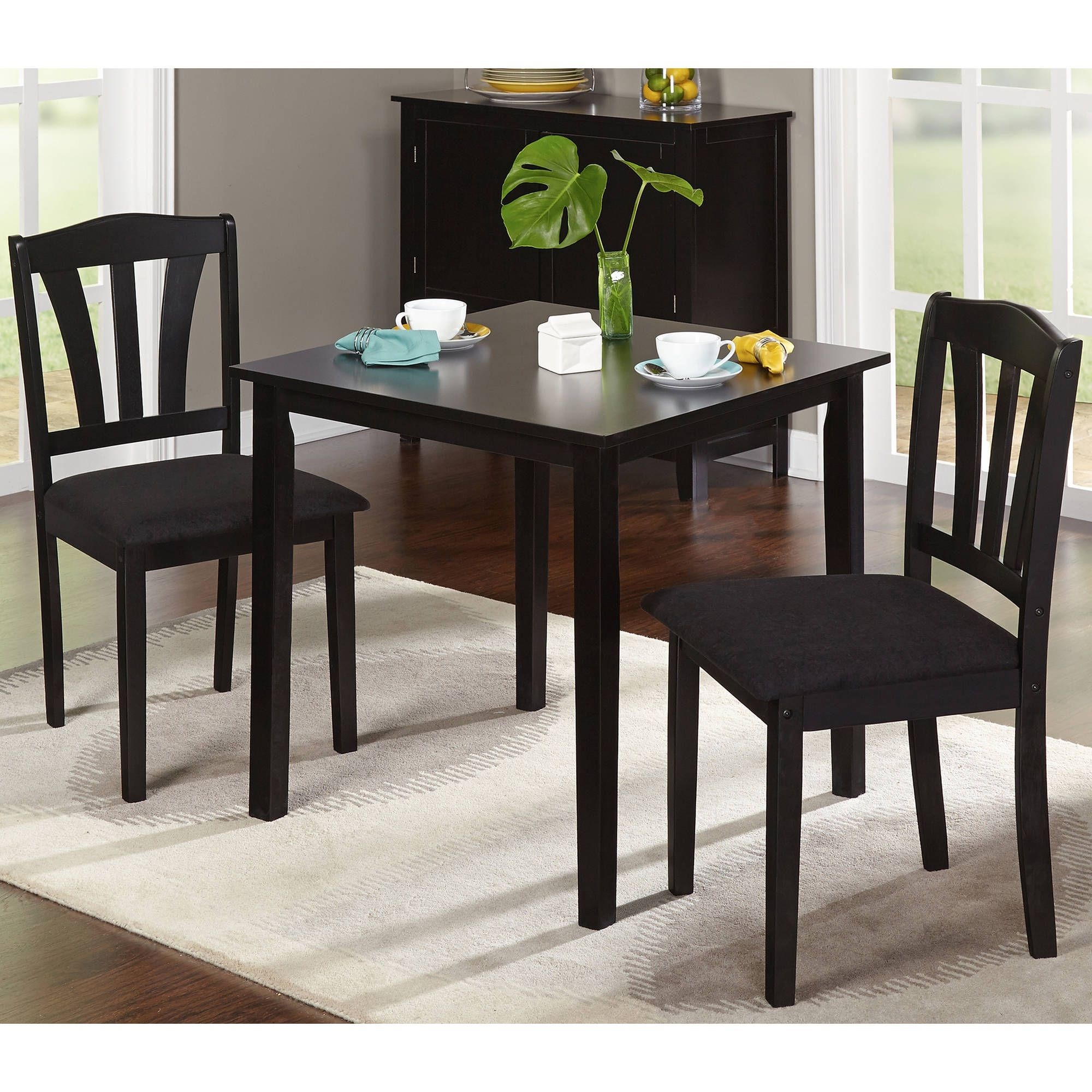 Metropolitan 3Piece Dining Set Multiple Finishes  Walmart