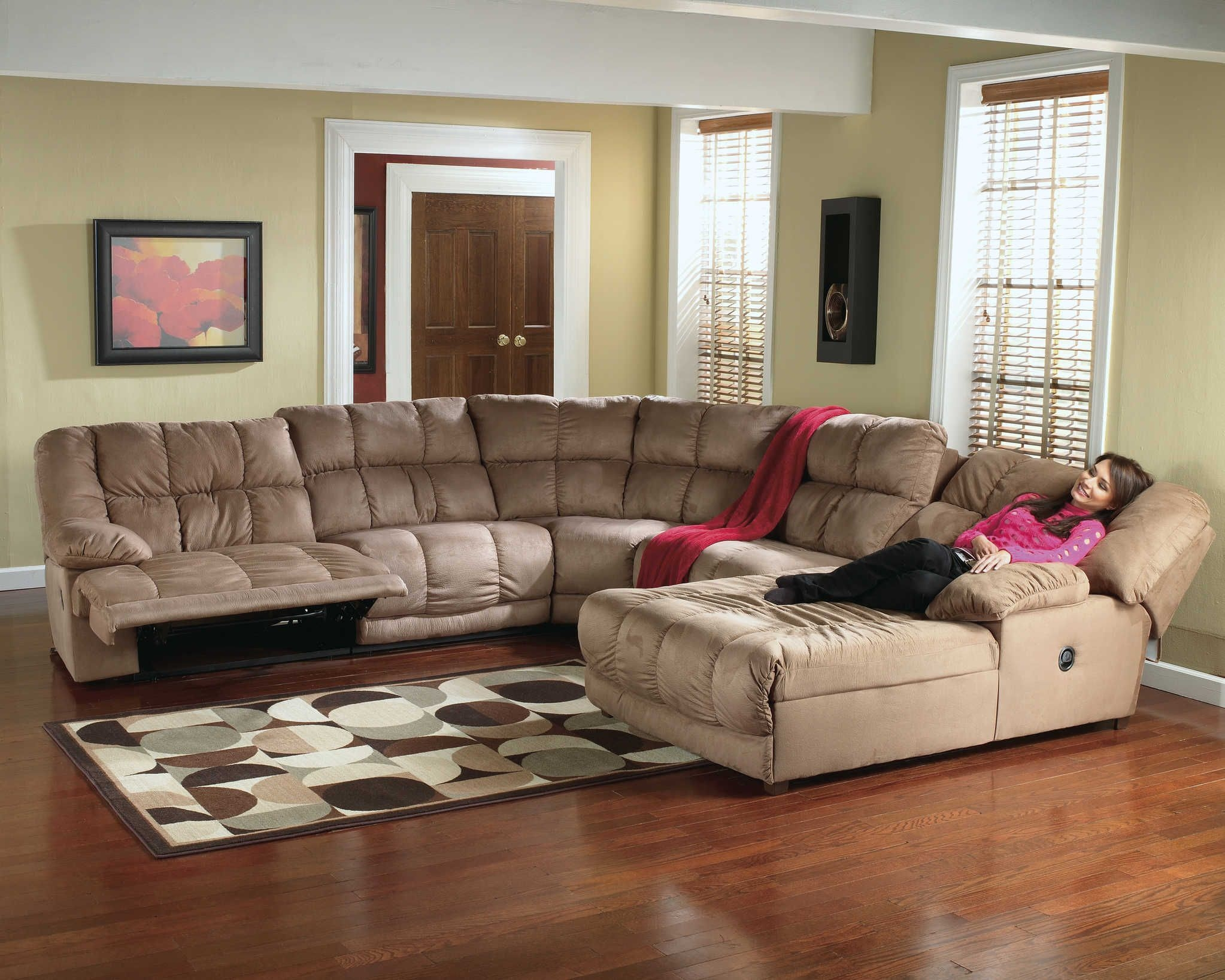 Microfiber Recliner Sectional  Sectional Sofa  Recliner Chaise 260  Sectional Sofa With