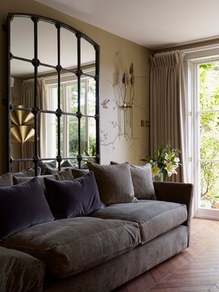 Mirrordesire To Inspire  Desiretoinspire  Interior Tailors  Living Room Mirrors Couch