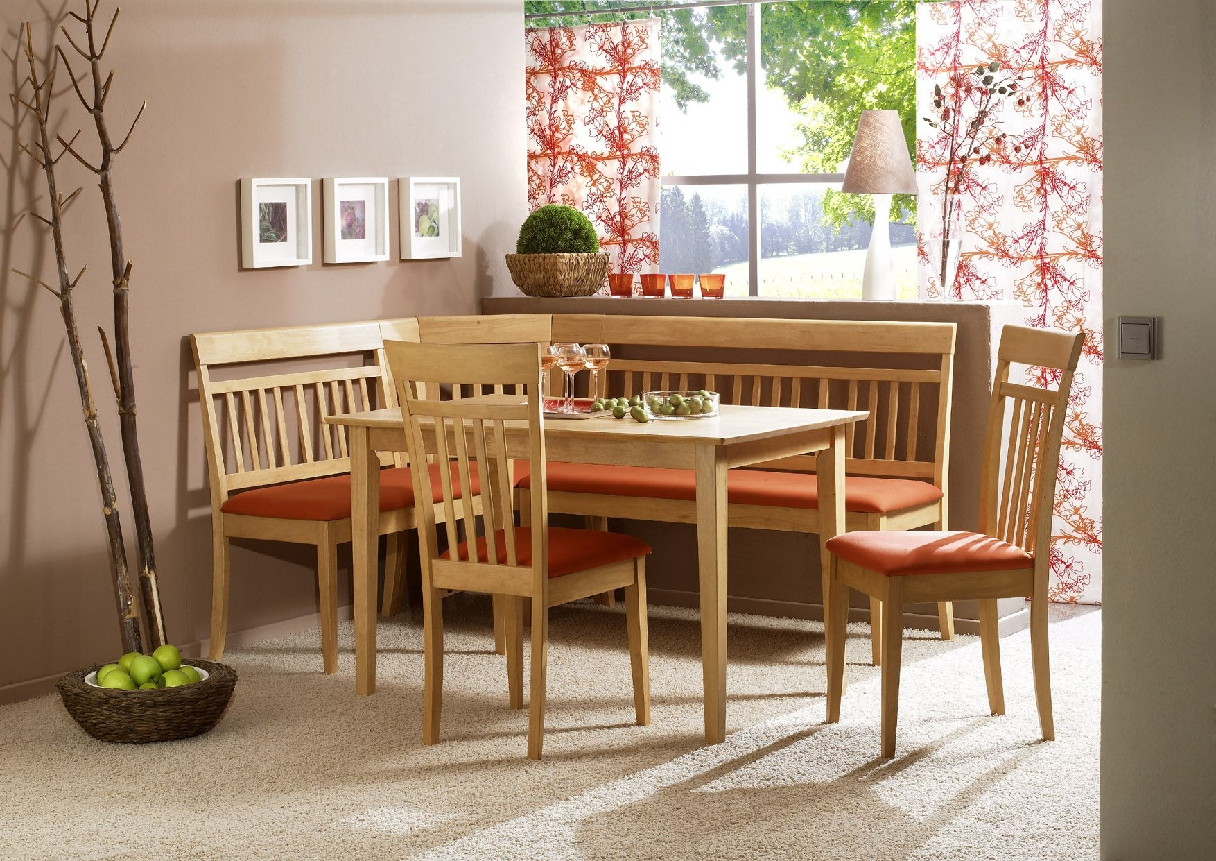 Modern Corner Bench Breakfast Kitchen Nook Dining Set  Ebay