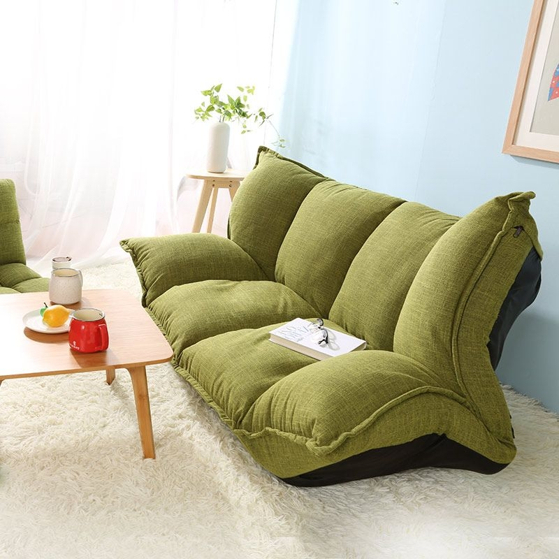 Modern Design Floor Sofa Bed 5 Position Adjustable Sofa Plaid Japanese Style Furniture Living