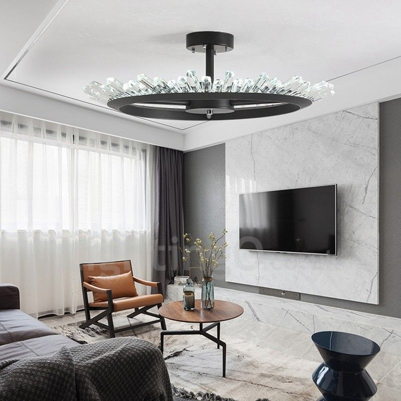 Moderncontemporary Crystal Ceiling Lights Bedroom Living Room Study Room Entrance  Lightingocouk