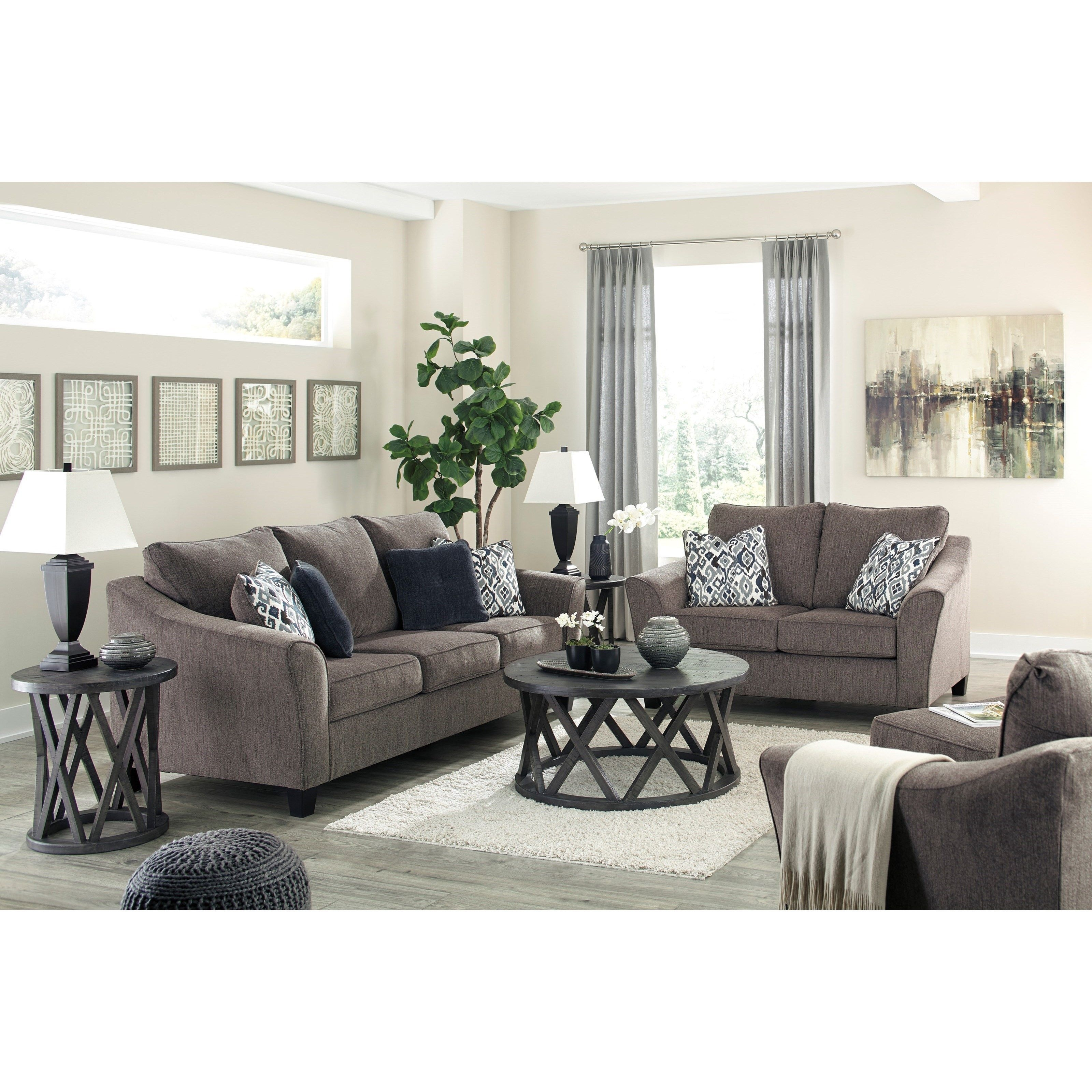 Nemoli Stationary Living Room Groupsignature Designashley  Living Room Sets Furniture