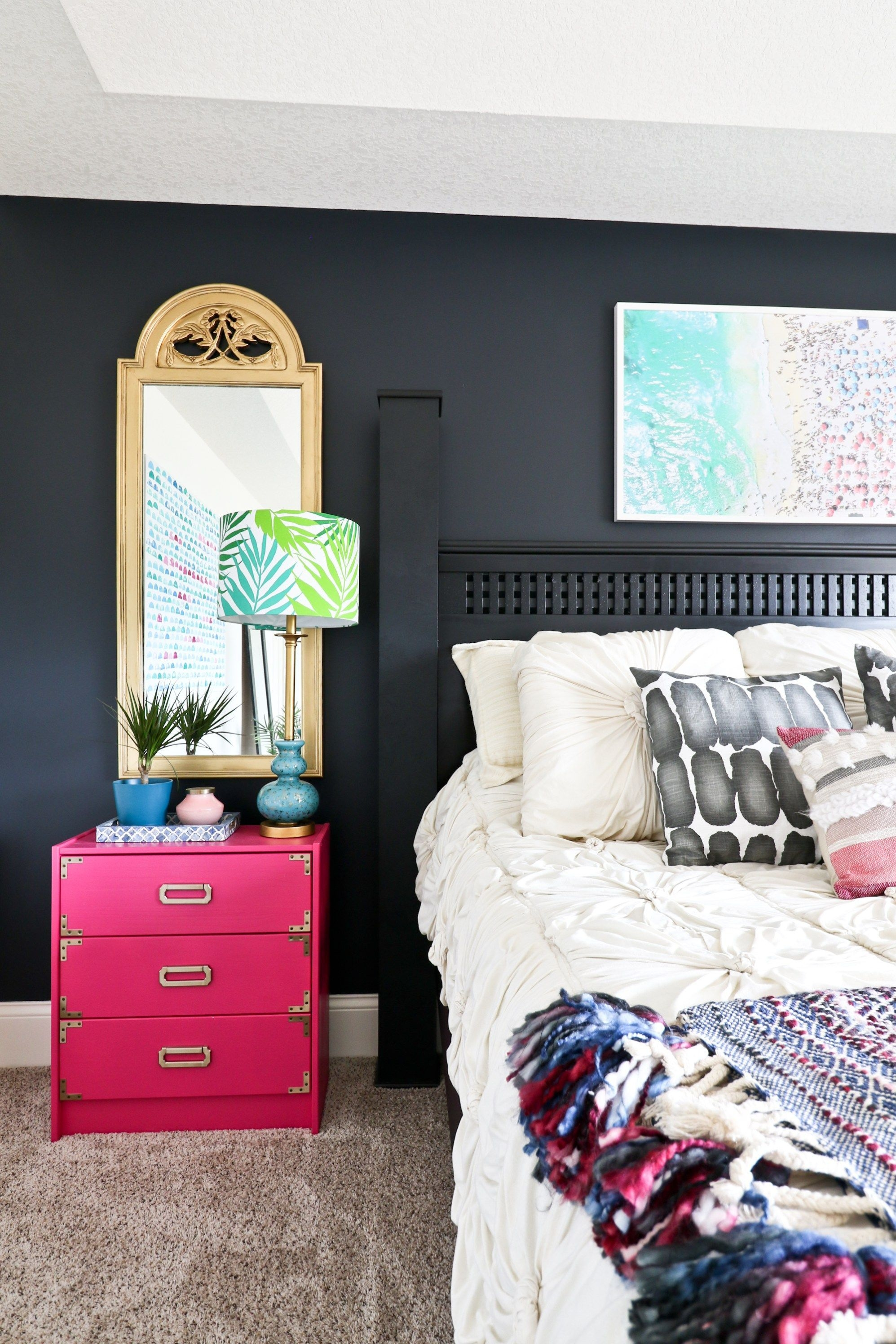 One Room Challenge  Week 7 Eclectic Beachy Glam Master Bedroom Reveal  Glam Master Bedroom