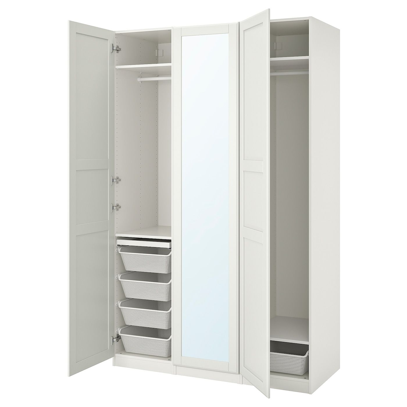 Pax  Tyssedal Wardrobe Combination  White Mirror Glass  Ikea