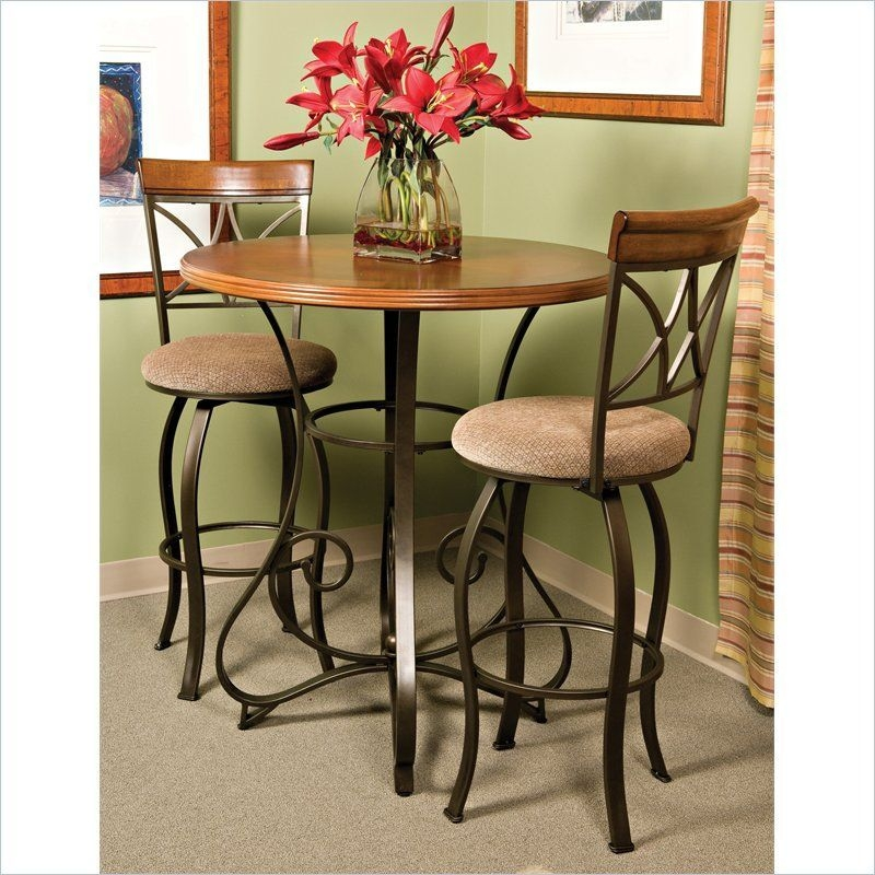 "Powell Hamilton 36"" Pub Table In Brushed Faux Medium Cherry With Images  Pub Dining Set Pub"