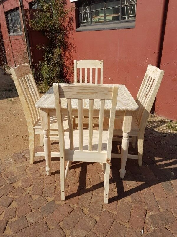 Raw Pine Kitchen Table  4 Pine Chairs R2395  Bedfordview  Gumtree Classifieds South Africa