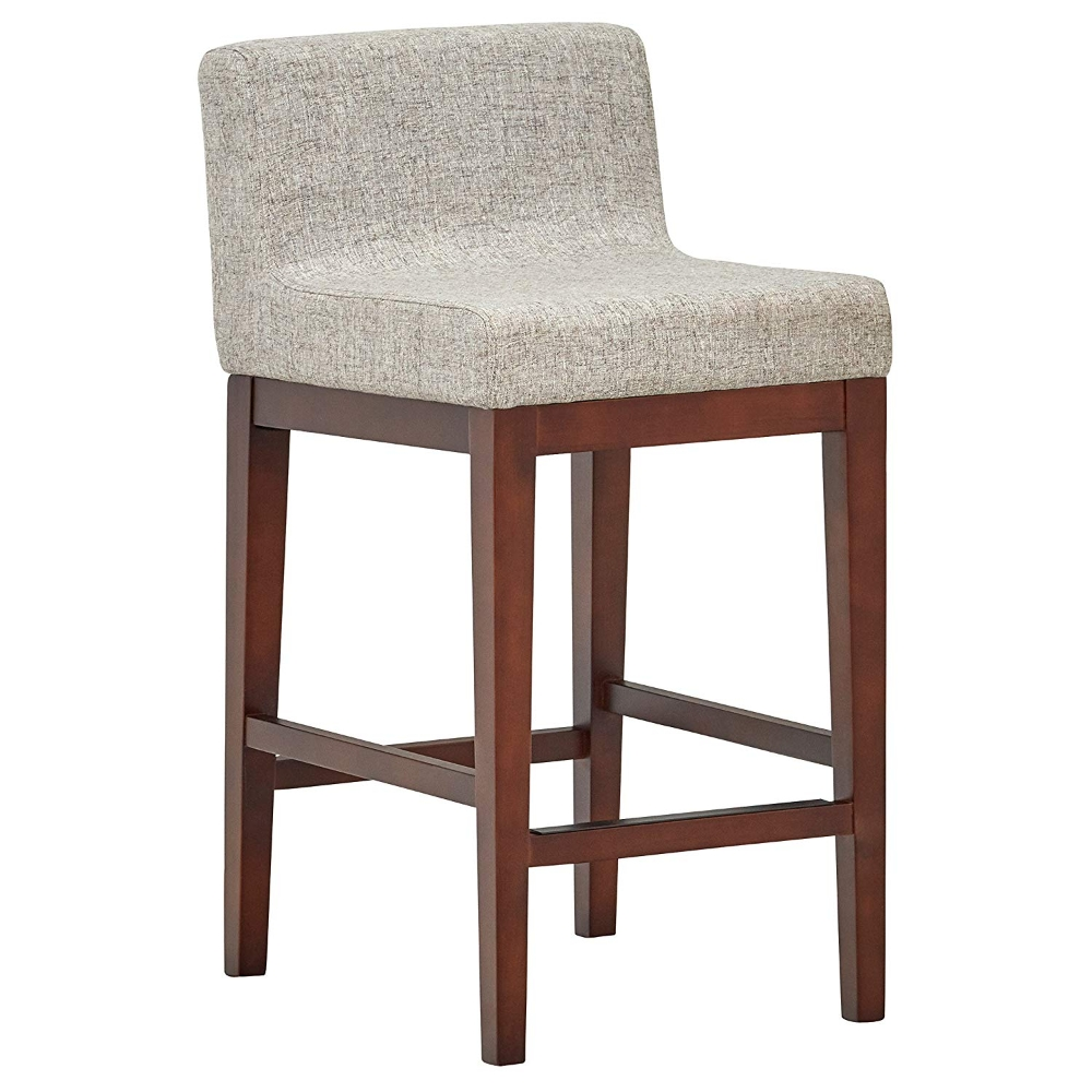 Rivet Midcentury Modern Lowback Kitchen Dining Room Counter Stool 335 Inch Height Light
