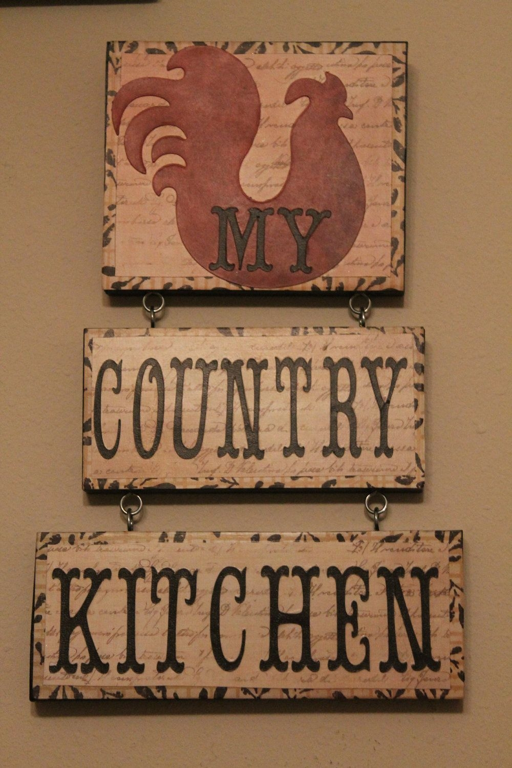 Rooster Decorcountry Kitchen Signkitchen Decorhome Decorcountry Kitchenready To