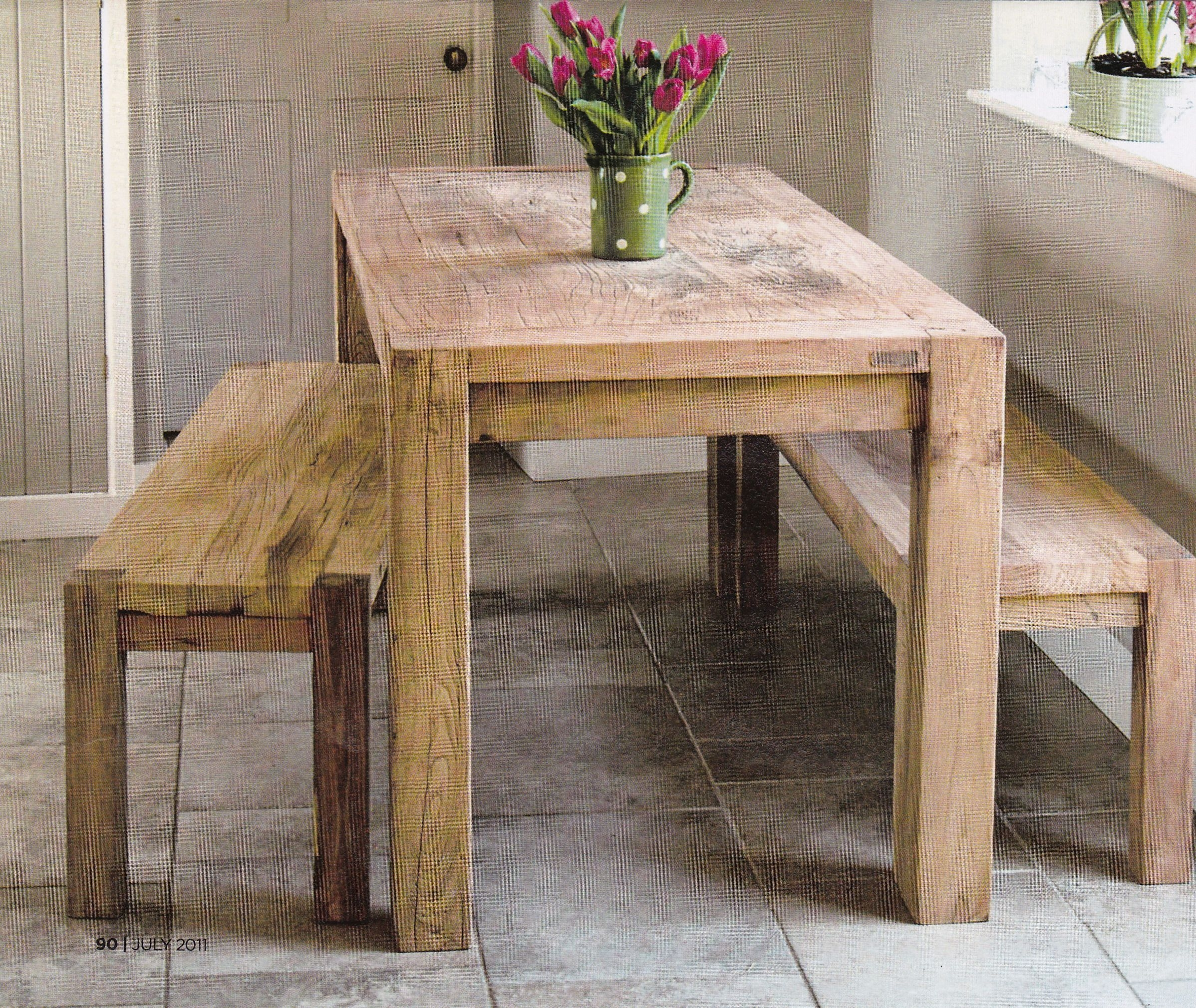 Rustic Kitchen Table With Benches That Can Slide Underneath  Rustic Kitchen Tables Kitchen
