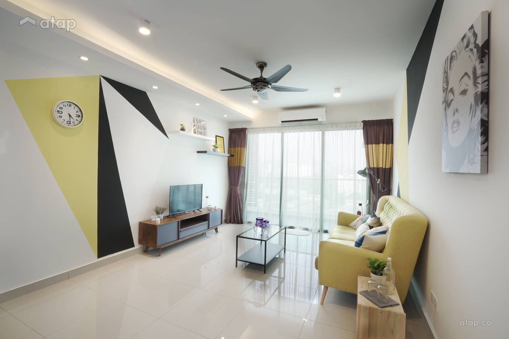 Scandinavian Living Room Condominium Design Ideas  Photos Malaysia  Atapco