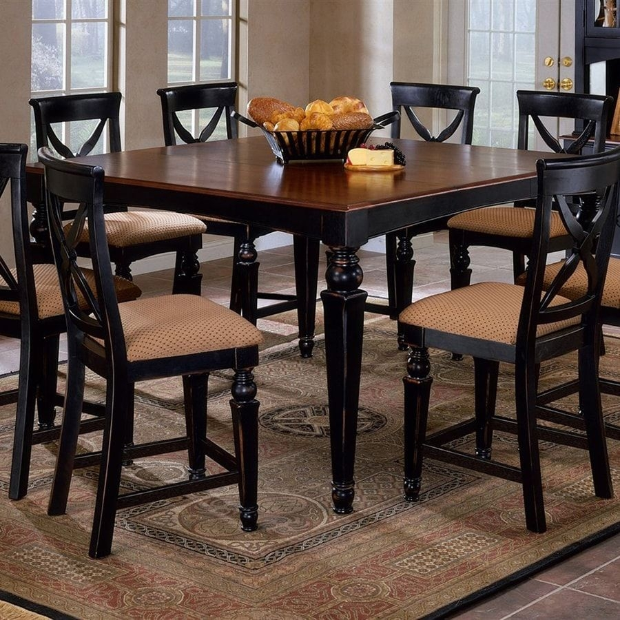Shop Hillsdale Furniture Northern Heights Black Square Dining Table At Lowes