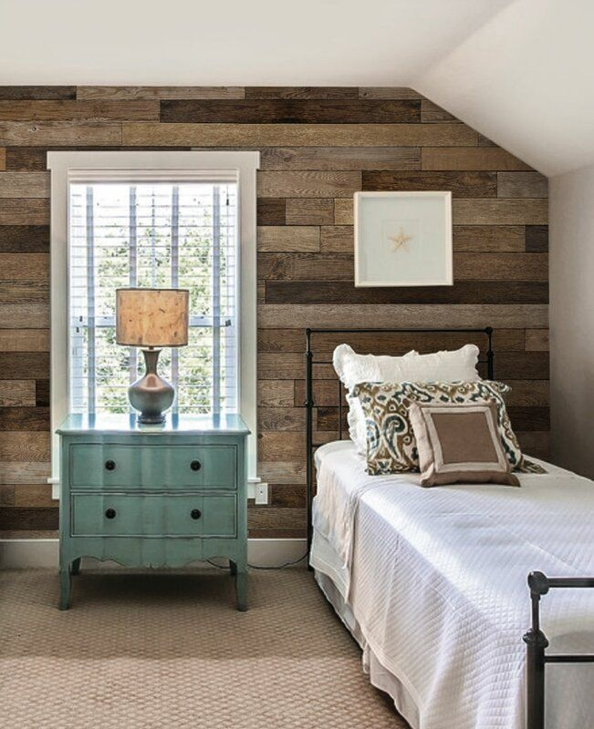 Simpleshapes Reclaimed Wood And Shiplap Wall Mural  Reviews  Wayfair
