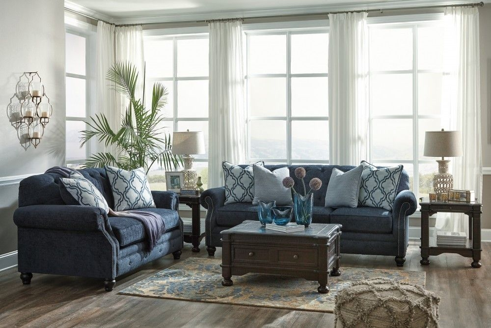 Sofa  Loveseat Navy  Room Furniture Design Living Room Sofa Living Room Designs
