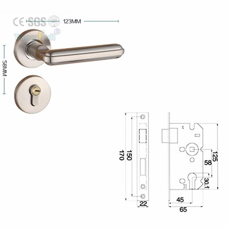 Steel Alloy Stealth Interior Locks European Bedroom Bathroom Livingroom Hardware Door Lock