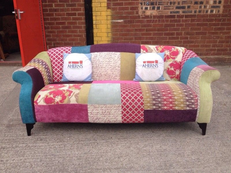 Stunning Dfs Shout Patch Work Sofa  Aherns Furniture