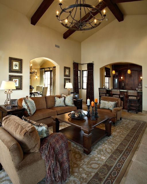 Superstition Mountain Traditional  Mediterranean  Living Room  Phoenix Linda Seeger
