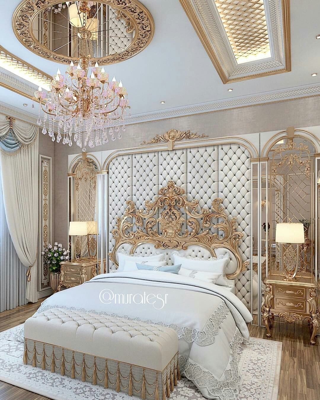 The Headboard  Luxurious Bedrooms Luxury Bedroom Design Bedroom Layouts