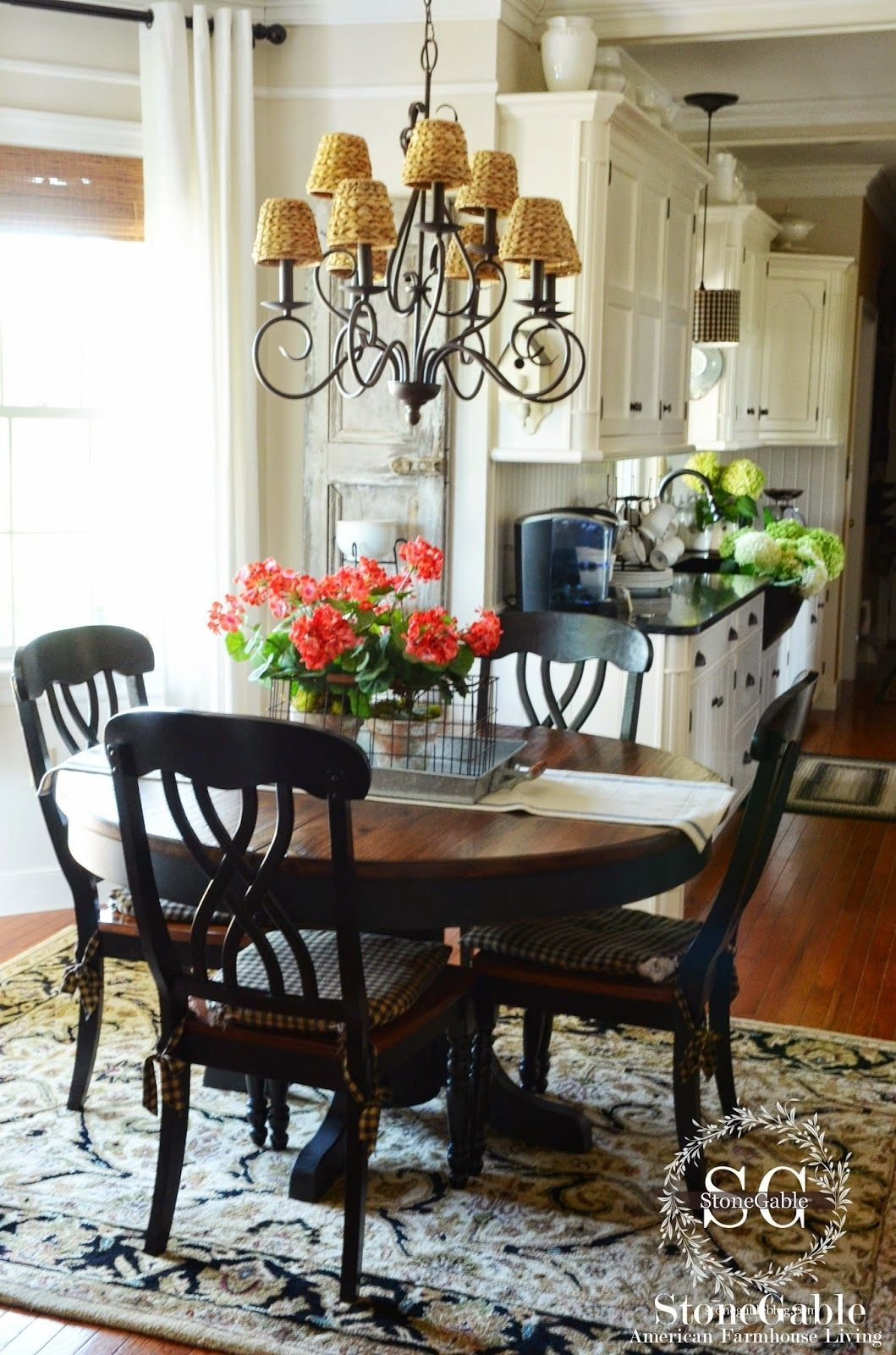 The Summer Farmhouse Kitchen  Farmhouse Kitchen Tables Dining Room Kitchen Remodel