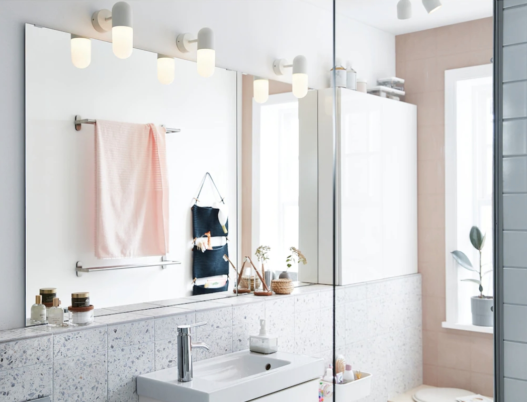 These Ikea Bathroom Lighting Ideas Make A Small Space Feel Bigger And Brighter Fast  Real Homes