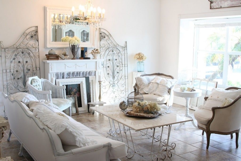Top 15 Beauty Shabby Chic White Living Room Designs – Easy Interior Decor Project  Diy Craft