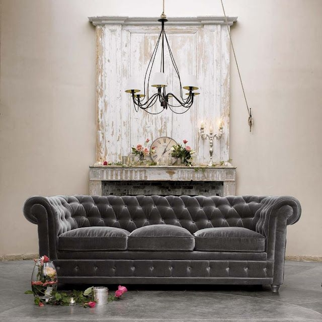 Tufted Sofa Interior Design  Panda'S House
