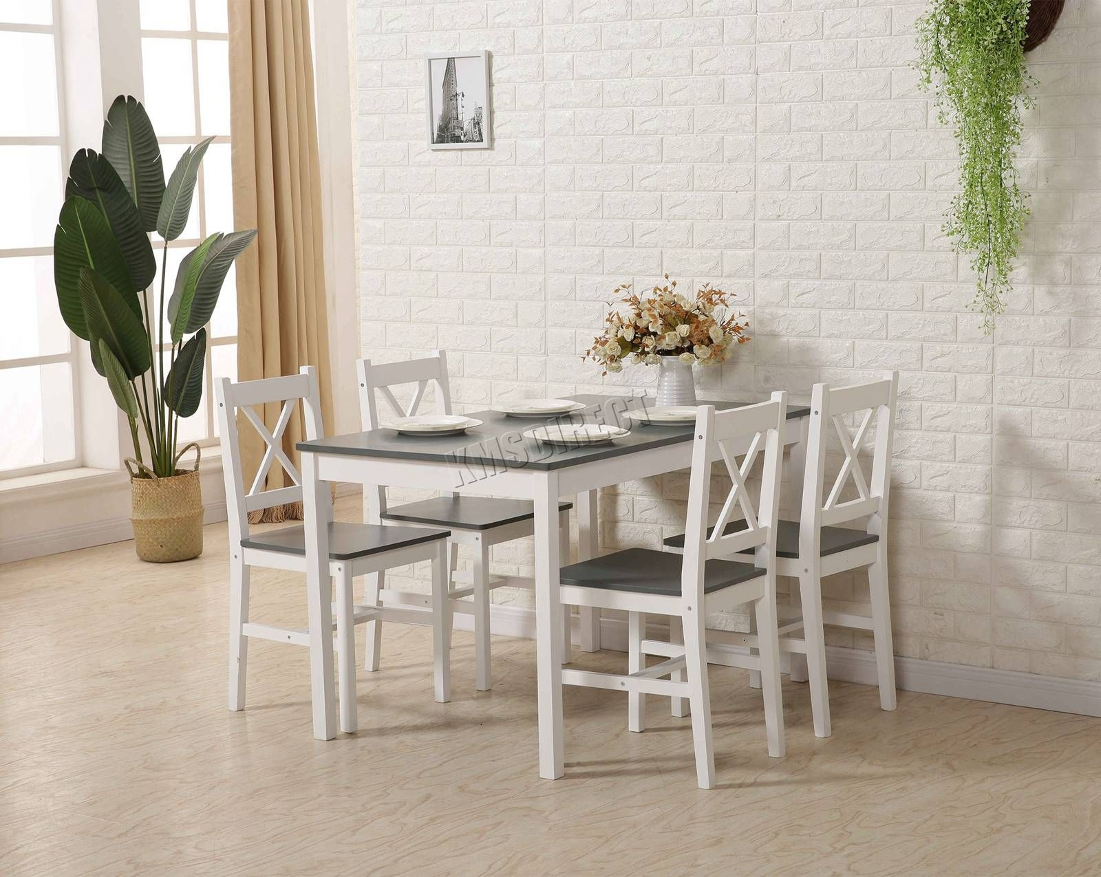 Westwood Quality Solid Wooden Dining Table And 4 Chairs Set Kitchen Home Ds03  Ebay