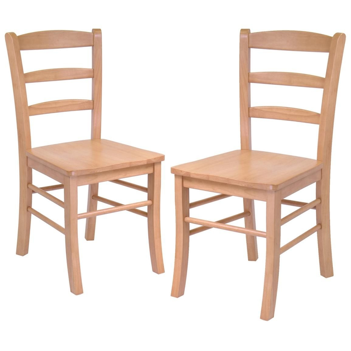 Winsome Set Of 2 Light Oak Ladder Back Chairs  151003 Kitchen  Dining Stools At Sportsman'S Guide