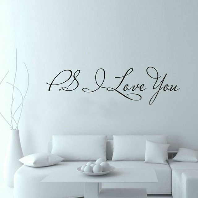 5815Cm Ps I Love You Wall Art Decal Home Decor Famous  Inspirational Quotes Living Room