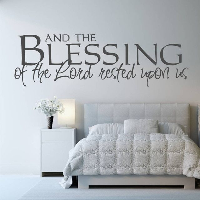 Diy Black Removable Wall Decals Bedroom Living Room Office Quotes And The Blessing Of The Lord