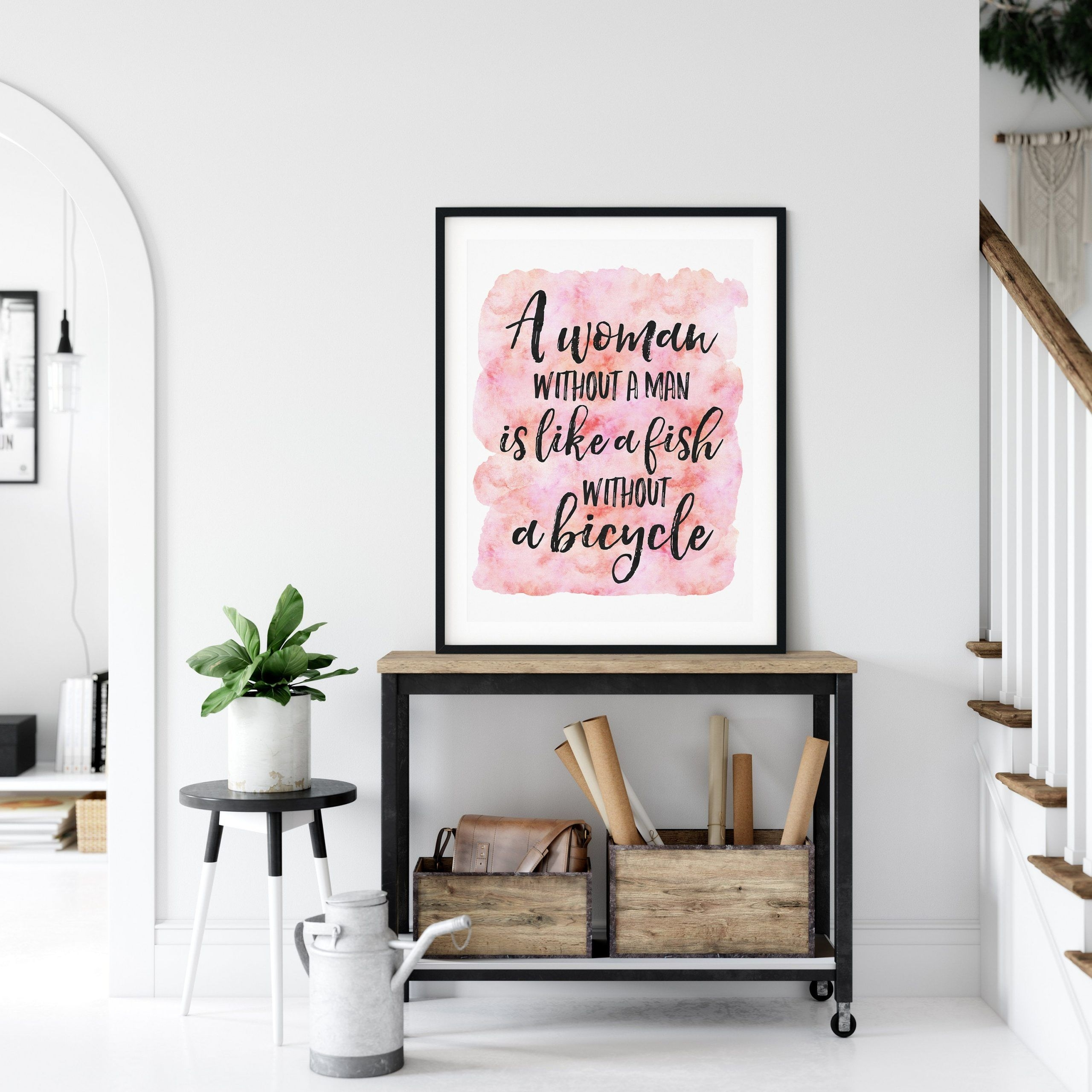 Funny Feminist Quote Female Bedroom Wall Decor Girl Quotes Room Decor  Art Print Studio