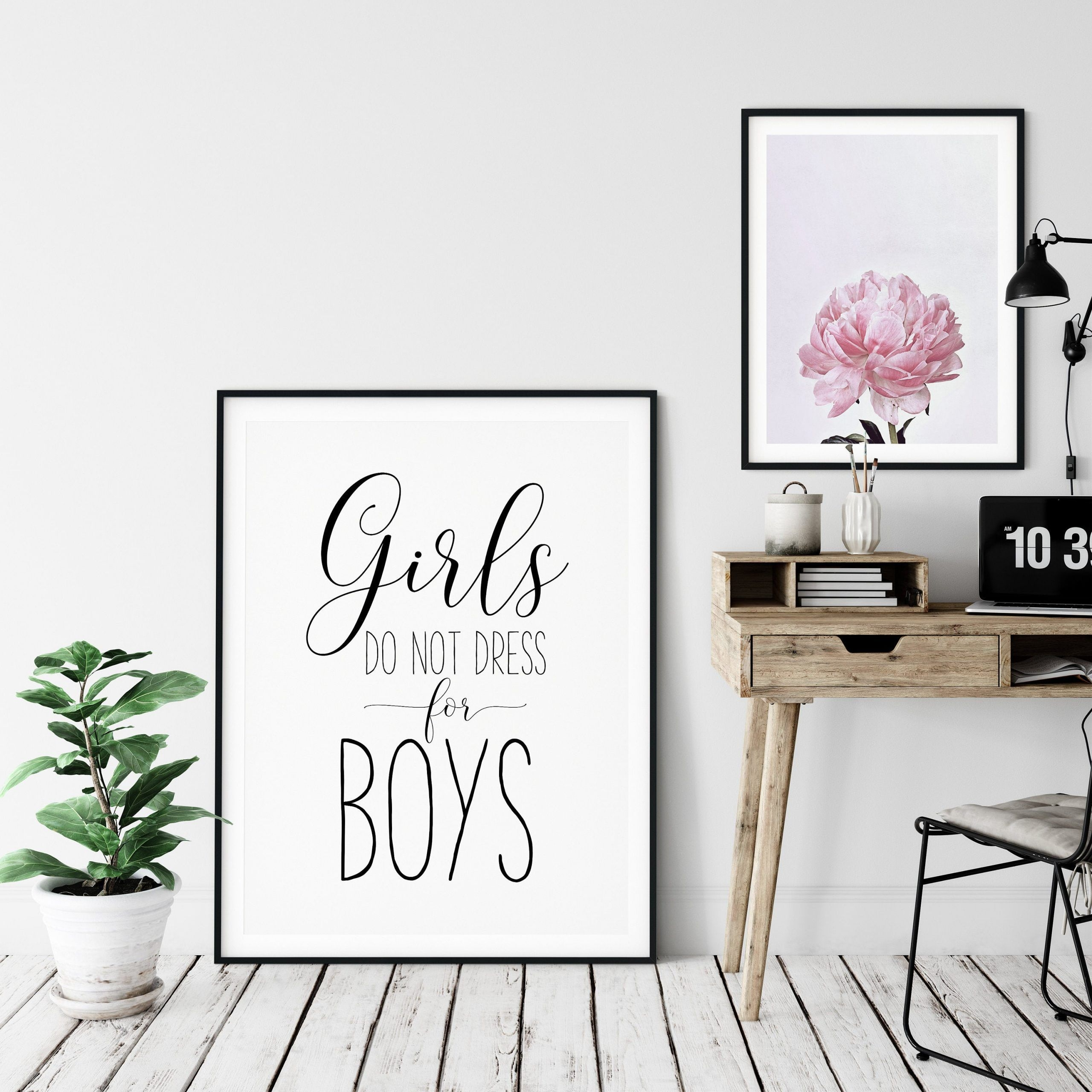 Girls Don't Dress For Boys Feminist Printable Wall Art Girl Quotes Room Decor  Art Print Studio