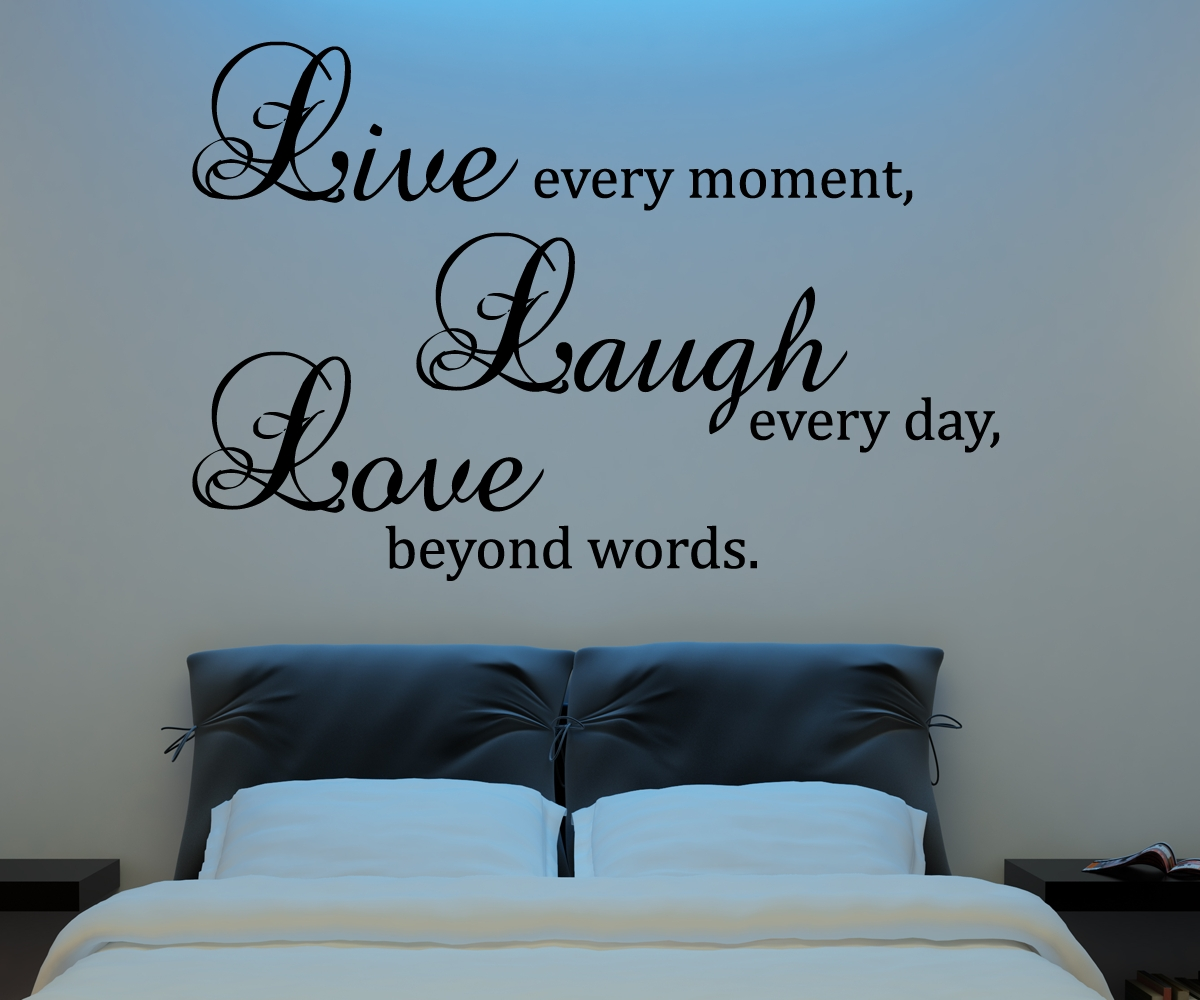 Live Laugh Love Wall Decal Vinyl Sticker Quote Art Living Room Dining Room Decor On Luulla