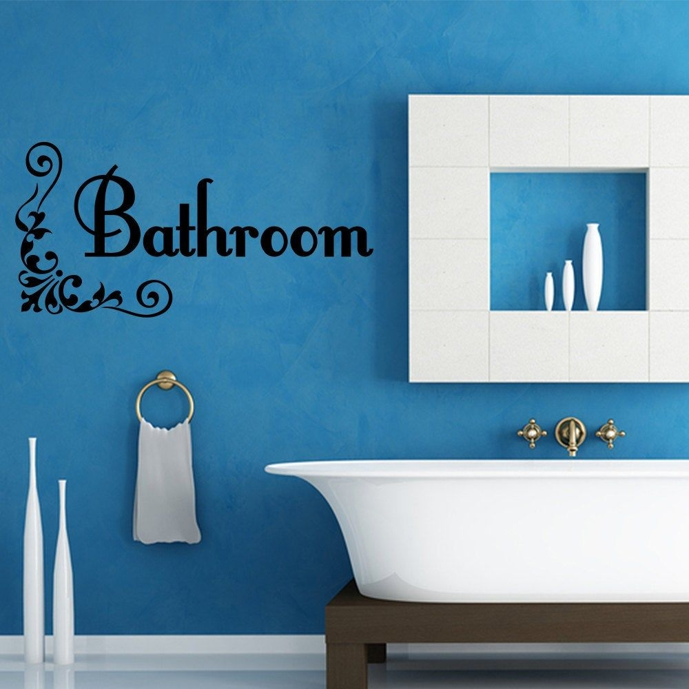 Wall Decal Quote Bathroom Wall Decal Vinyl Word Home Art